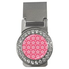 Star Pink White Line Space Money Clips (cz)  by Alisyart