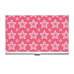 Star Pink White Line Space Business Card Holders by Alisyart