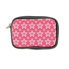 Star Pink White Line Space Coin Purse