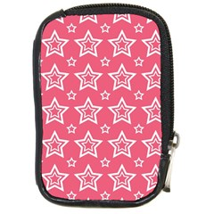 Star Pink White Line Space Compact Camera Cases by Alisyart