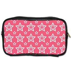 Star Pink White Line Space Toiletries Bags 2 Side by Alisyart