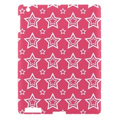 Star Pink White Line Space Apple Ipad 3/4 Hardshell Case