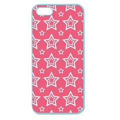 Star Pink White Line Space Apple Seamless Iphone 5 Case (color) by Alisyart