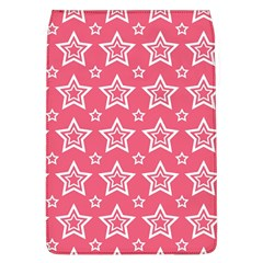 Star Pink White Line Space Flap Covers (l)