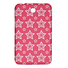 Star Pink White Line Space Samsung Galaxy Tab 3 (7 ) P3200 Hardshell Case  by Alisyart