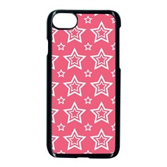 Star Pink White Line Space Apple Iphone 7 Seamless Case (black)