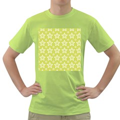 Star Yellow White Line Space Green T Shirt