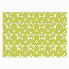 Star Yellow White Line Space Large Glasses Cloth by Alisyart