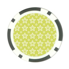 Star Yellow White Line Space Poker Chip Card Guard (10 Pack) by Alisyart