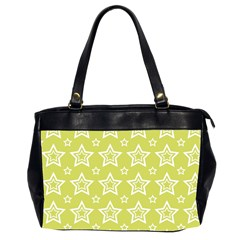 Star Yellow White Line Space Office Handbags (2 Sides)  by Alisyart