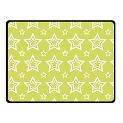 Star Yellow White Line Space Fleece Blanket (small) by Alisyart