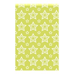 Star Yellow White Line Space Shower Curtain 48  X 72  (small)  by Alisyart