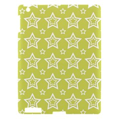 Star Yellow White Line Space Apple Ipad 3/4 Hardshell Case by Alisyart