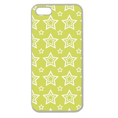 Star Yellow White Line Space Apple Seamless Iphone 5 Case (clear) by Alisyart