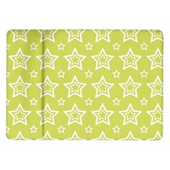 Star Yellow White Line Space Samsung Galaxy Tab 10 1  P7500 Flip Case by Alisyart