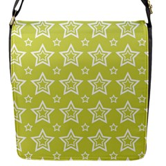 Star Yellow White Line Space Flap Messenger Bag (s) by Alisyart