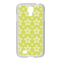 Star Yellow White Line Space Samsung Galaxy S4 I9500/ I9505 Case (white)