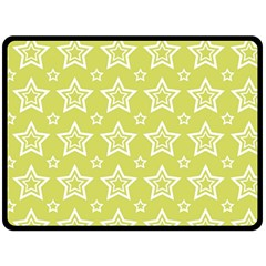 Star Yellow White Line Space Double Sided Fleece Blanket (large)  by Alisyart