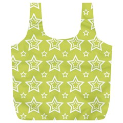 Star Yellow White Line Space Full Print Recycle Bags (l)  by Alisyart