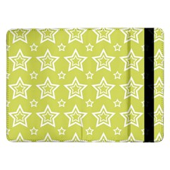 Star Yellow White Line Space Samsung Galaxy Tab Pro 12 2  Flip Case by Alisyart
