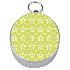 Star Yellow White Line Space Silver Compasses
