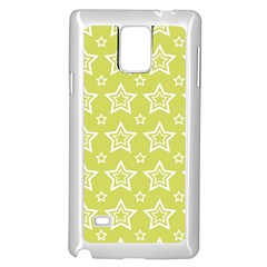 Star Yellow White Line Space Samsung Galaxy Note 4 Case (white) by Alisyart