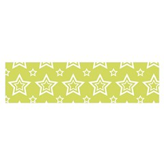 Star Yellow White Line Space Satin Scarf (oblong) by Alisyart