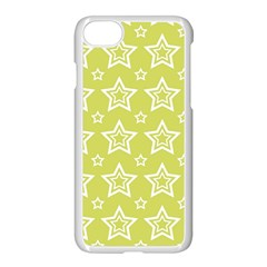 Star Yellow White Line Space Apple Iphone 7 Seamless Case (white) by Alisyart