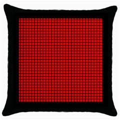 Red And Black Throw Pillow Case (black) by PhotoNOLA