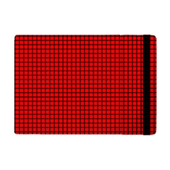 Red And Black Apple Ipad Mini Flip Case by PhotoNOLA