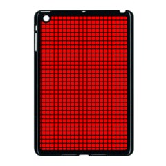 Red And Black Apple Ipad Mini Case (black) by PhotoNOLA