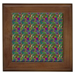 Pattern Abstract Paisley Swirls Framed Tiles by Simbadda