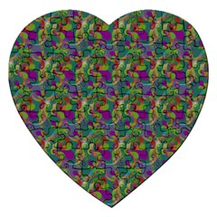 Pattern Abstract Paisley Swirls Jigsaw Puzzle (heart) by Simbadda