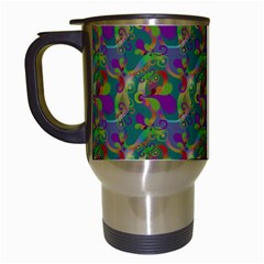 Pattern Abstract Paisley Swirls Travel Mugs (white) by Simbadda
