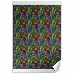 Pattern Abstract Paisley Swirls Canvas 12  X 18   by Simbadda