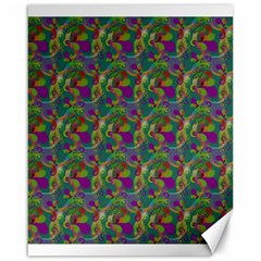 Pattern Abstract Paisley Swirls Canvas 16  X 20   by Simbadda