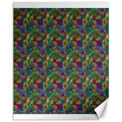 Pattern Abstract Paisley Swirls Canvas 11  X 14   by Simbadda