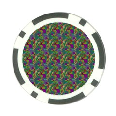 Pattern Abstract Paisley Swirls Poker Chip Card Guard by Simbadda
