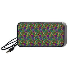 Pattern Abstract Paisley Swirls Portable Speaker (black) by Simbadda