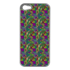 Pattern Abstract Paisley Swirls Apple Iphone 5 Case (silver) by Simbadda