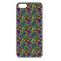 Pattern Abstract Paisley Swirls Apple Seamless Iphone 5 Case (clear) by Simbadda