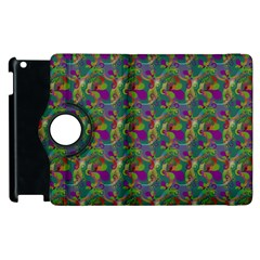 Pattern Abstract Paisley Swirls Apple Ipad 2 Flip 360 Case by Simbadda