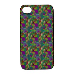 Pattern Abstract Paisley Swirls Apple Iphone 4/4s Hardshell Case With Stand by Simbadda
