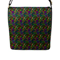 Pattern Abstract Paisley Swirls Flap Messenger Bag (l)  by Simbadda