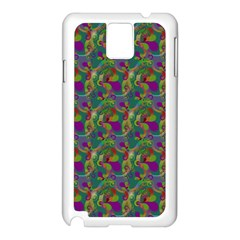 Pattern Abstract Paisley Swirls Samsung Galaxy Note 3 N9005 Case (white) by Simbadda
