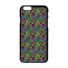 Pattern Abstract Paisley Swirls Apple Iphone 6/6s Black Enamel Case by Simbadda