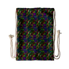 Pattern Abstract Paisley Swirls Drawstring Bag (small) by Simbadda