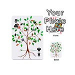 Tree Root Leaves Owls Green Brown Playing Cards 54 (Mini)  Front - Club8