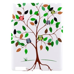 Tree Root Leaves Owls Green Brown Apple Ipad 3/4 Hardshell Case