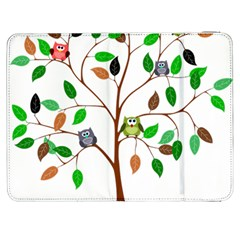 Tree Root Leaves Owls Green Brown Samsung Galaxy Tab 7  P1000 Flip Case by Simbadda